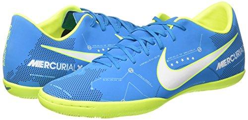 Nike Neymar Mercurialx Seier Vi Ic Innendørs Fotballsko Blå Bane / Hvit-blå Bane-arsenalet Navy