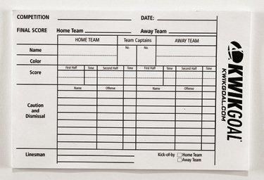 amazon com kwik goal referee score sheets coach and referee