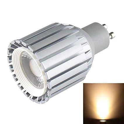 HUBINGRONG Foco de LED GU10 10W 945LM Cubierta Gris Luz Blanca Foco de LED COB,