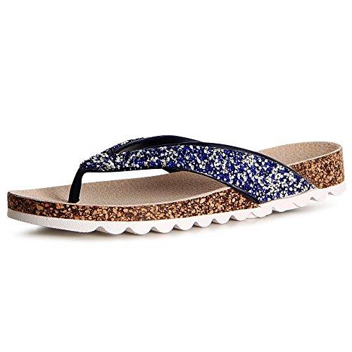 topschuhe24 Femmes Sandalettes Femmes Sandales topschuhe24 Sandales Bleu Sandalettes rZcrq4Tyw