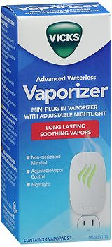 - Vicks Advanced Soothing Vapors Mini Waterless Vaporizer With Nightlight, V1750, Pack of 2