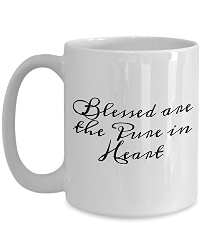 Blessed are the Pure in Heart, the Beatitudes series, white, ceramic mug