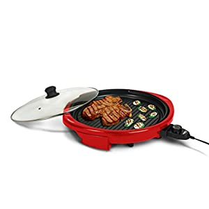 Elite Gourmet EMG-980R Maxi-Matic 14-Inch Electric Indoor Grill, Red