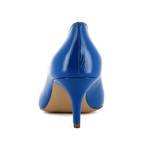 de Shoes de Giulia vestir Piel para Evita Zapatos mujer Azul dxtnX