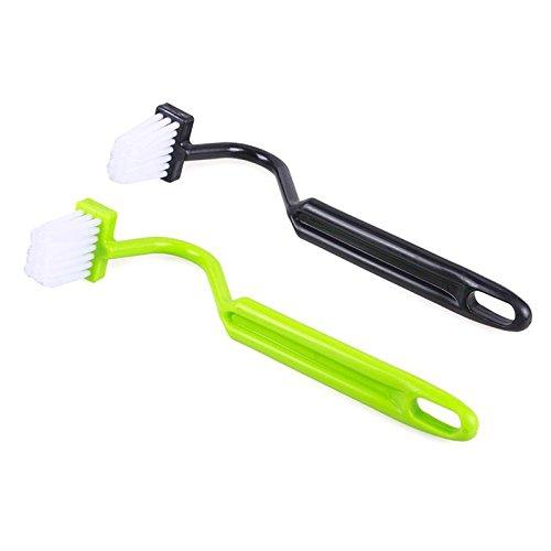 Teabelle - 1 pcs Escobillero portátil para Inodoro, Tipo V, Cepillo Limpiador y Mango doblado(Color al Azar)