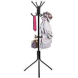 Coat Hat Rack Hanger Stand Tree Metal Hook Holder Umbrella Hooks Hall Clothes Purse Jacket Office