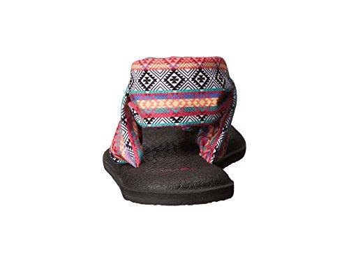 Sanuk Femmes Yoga Sling 2 Flip Flop Magenta / Multi Bande Tribale