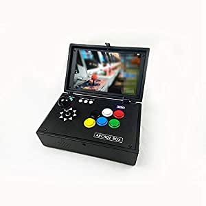 YCM Raspberry Pi 3B 10 Inch LCD Video Game Console Includes 10K Games Installed RB System No Delay Joystick Buttons Mini Arcade Machine