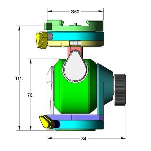 Arca Swiss D4m Manual Head Quickset, MonoballFix (Plate Not Included) by Arca Swiss