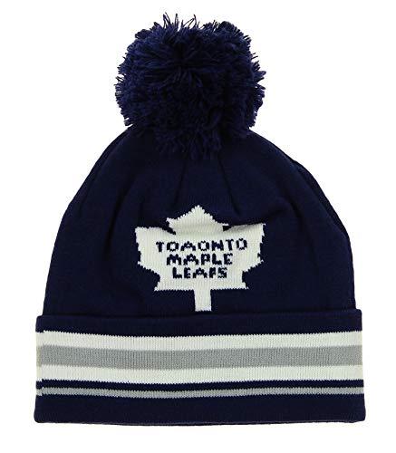 1afc88220a3f3c Reebok NHL Youth (8-20) Toronto Maple Leafs Cuffed Knit Hat Witih Pom