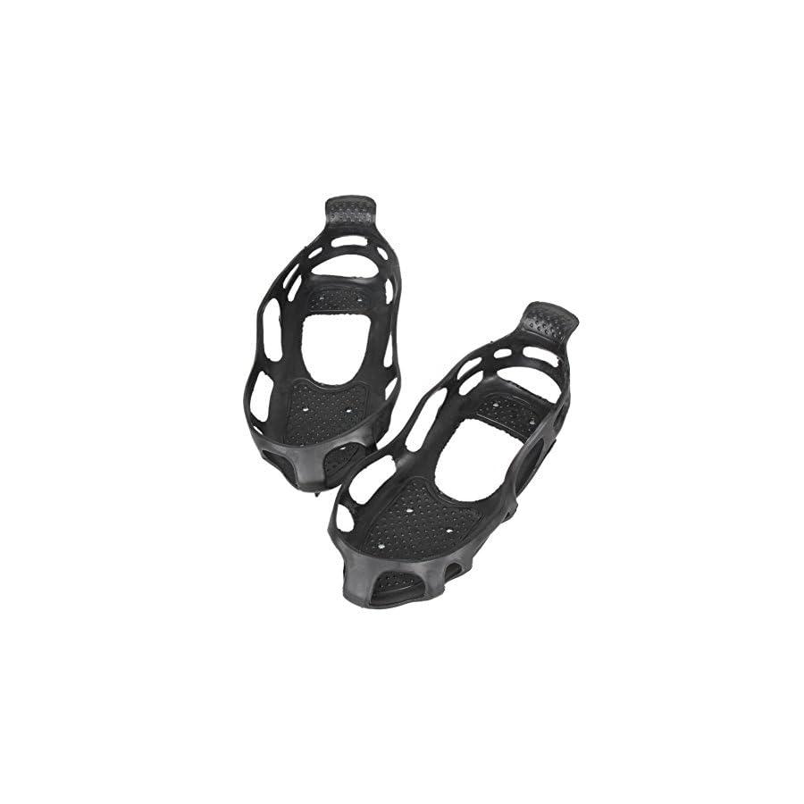 Alloet New Ice Snow Climbing Anti slip Shoe Covers Spike Cleats 24 Teeth Crampons