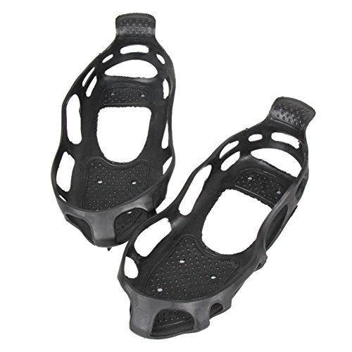 Alloet New Ice Snow Climbing Anti slip Shoe Covers Spike Cleats 24 Teeth Crampons