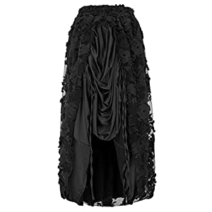 Belle Poque Steampunk Gothic Victorian High Low Skirt Bustle Style