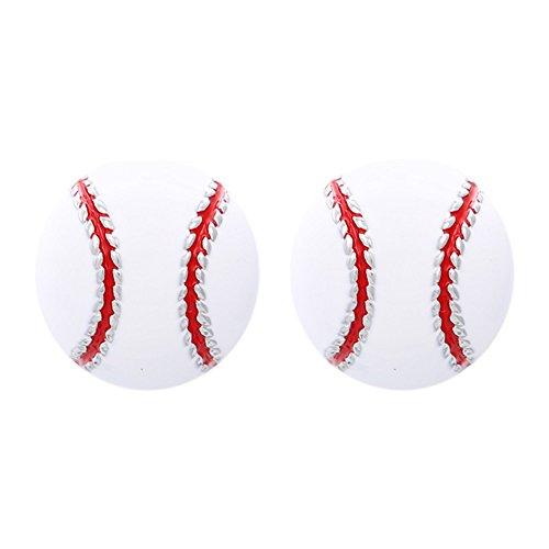 GIMMEDAT Baseball Earrings - Baseball Enamel Post Earrings