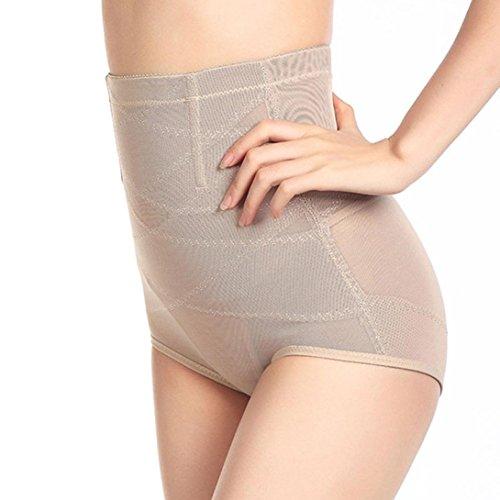 Velvet Lace Corset (Vanvler High Waist Cincher Shapewear Corset Tummy Control Abdomen Pant Model Body Underwear (Flesh, XXL))
