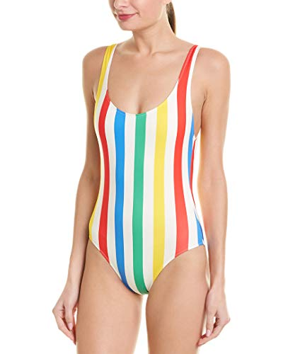 Solid & Striped Women's The Anne Marie One Piece, Primary Stripe, - Stripe Marie