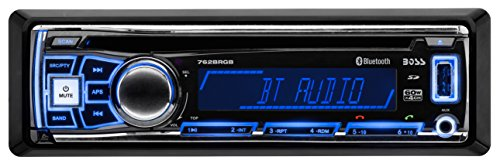 Price comparison product image BOSS Audio 762BRGB Single Din, Bluetooth, CD / MP3 / USB / SD AM/FM Car / Boat / ATV Stereo, Detachable Front Panel, Multi Color Illumination, Wireless Remote