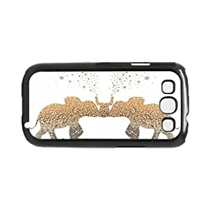 Twin Gatsby Gold Elephants with Intertwining Trunks Hard Snap on Phone Case (Galaxy s3 III)