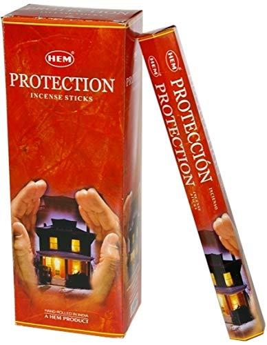 1 X Protection - Box of Six 20 Stick Tubes - HEM Incense ()