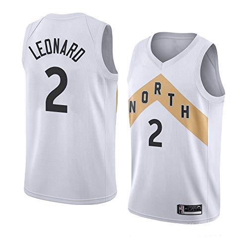 2019 Mens Jerseys Sports Vest Raptors No.2 Leonard Basketball Uniform Suit Tops Basketball T-Shirt for Basketball Fans(S - XXL)