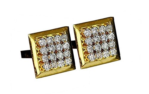 - Father's Day 0.86Ct Natural Diamond 9K,14K Yellow Gold Men Cufflinks IJ Color SI Clarity Handmade Jewelry Gift for Him