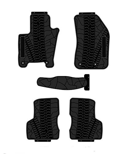 kaungka Heavy Rubber Car Front Floor Mats Compatible with 2015-2019 Jeep Renegade -All Weather and Season Protection Car Carpet