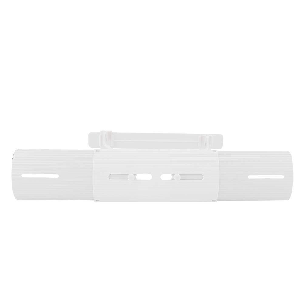 Fdit Socialme-EU Aire Acondicionado Escudo contra Viento Retr/áctil Anti Direccionamiento Acondicionador de Dormitorio Deflector Blanco
