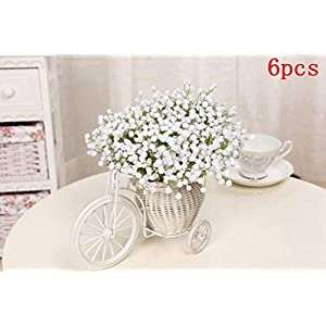 GSD2FF 10pcs 11pcs/Lot Rose Artificial Flowers Real Touch Rose Flowers for New Year Home Wedding Decoration Party Birthday Gift,6PCS Short Sky Star,11pcs 61