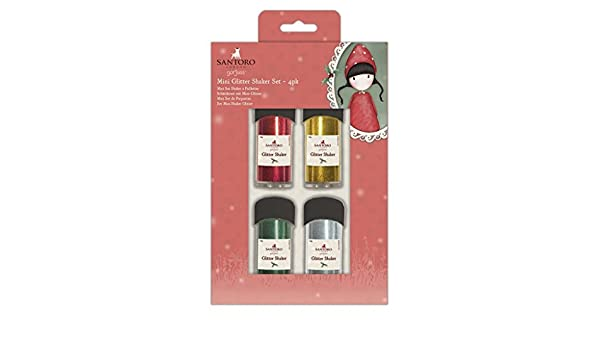 SANTORO Gorjuss Christmas Craft Collection - Juego de Mini batidora con Purpurina (4 Piezas): Amazon.es: Hogar