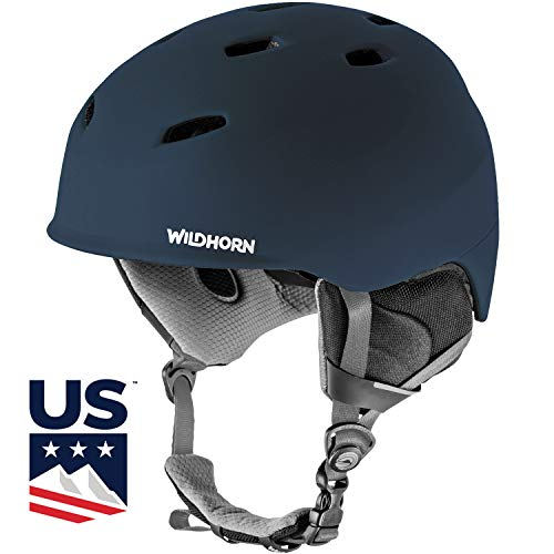 WildHorn Outfitters Drift Snowboard & Ski Helmet - US Ski Team Official Supplier - Performance & Safety w/Active Ventilation