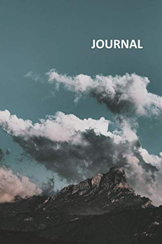 Journal: Clouds and Mountains Compact Bullet Journal Dot Grid Daily Planner Student for notes on how to plan a backpacking trip