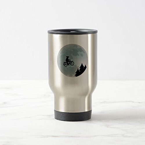 Feddiy Tumbler-Stainless Steel Travel Mug,14 oz Funny Coffee Mug-Rabbit Riding Bicycle Stainless Steel 14 oz by Feddiy