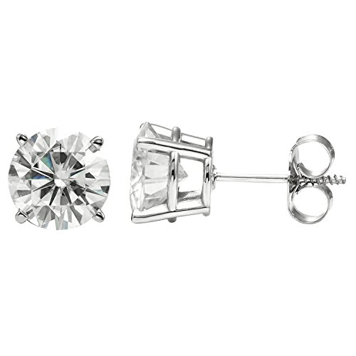 Forever Brilliant 5.0mm Round Moissanite Stud Earrings, 1.00cttw DEW By Charles & Colvard by Charles & Colvard