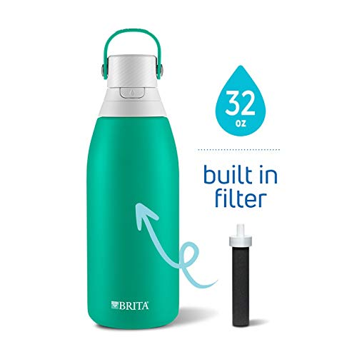 Brita 36478 Insulated Stainless Steel Water Bottle with Filter