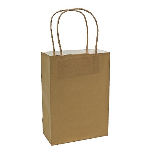 Gold Medium Craft Bags  12 Pack