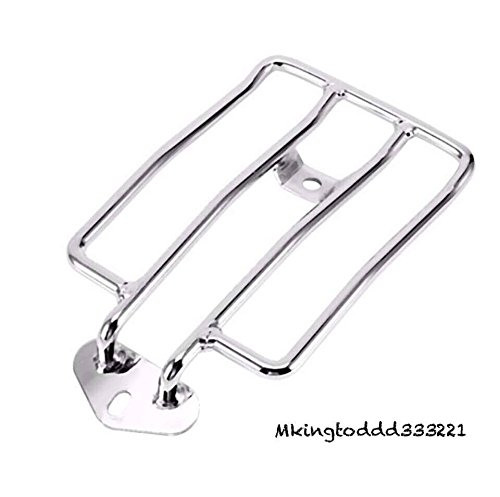 Motorcycle Silver Chrome Carrier Support Luggage Rack For Harley Davidson Motorcycles HD Sportster XL883 (Harley Davidson Luggage Racks)