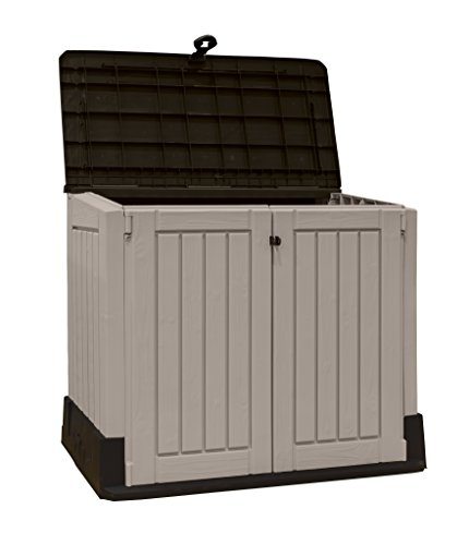 Keter store it out midi outdoor resin horizontal storage for Horizontal storage shed