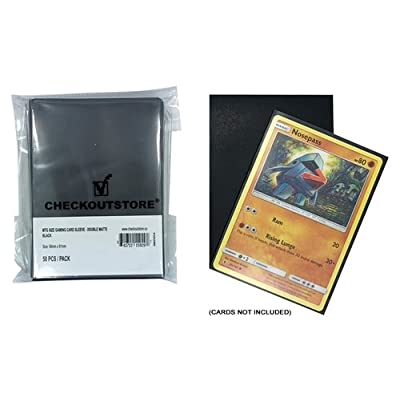 CheckOutStore (1000) Protective Sleeves for Trading Cards (66 x 91 mm) (Double Matte Black): Toys & Games