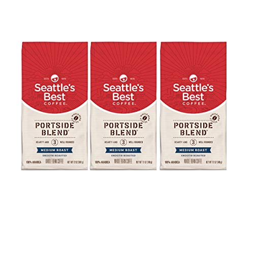 Seattle's Best Coffee Portside Blend (Previously Signature Blend No. 3) Medium Roast Ground Coffee, 12-Ounce Bag (3 pack)
