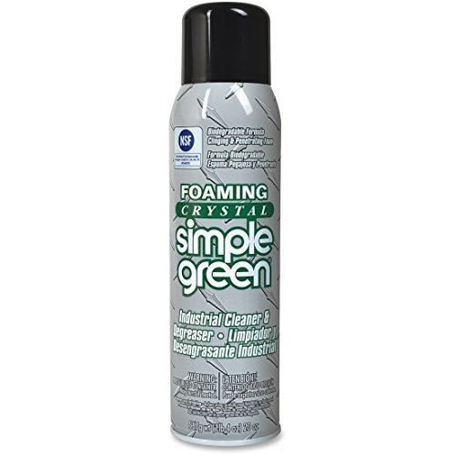 Simple Green 19010 Foaming Crystal Industrial Cleaner/Degreaser, 20oz Aerosol Can