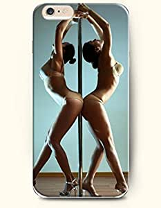 iPhone 6 Plus Case 5.5 Inches Two Sexy Is Performing Pole Dancing - Hard Back Plastic Case OOFIT Authentic by icecream design