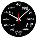 Hot Sale Acrylic Wall Clock Maths Equation Modern Design Portugal Euro Novelty Art Unique