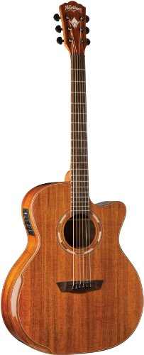 Washburn Comfort Series WCG55CE Acoustic Guitar, Natural