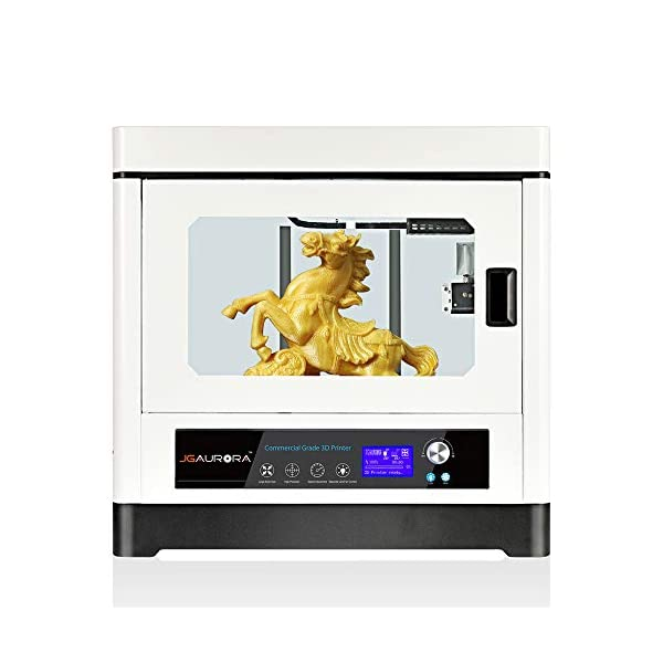 Jgmaker large 3d printers high accuracy large build size 13.7×9.8×11.8in fully closed metal structure dual motor feeding fdm desktop 3d printing machine works abs pla tpu 1.75mm