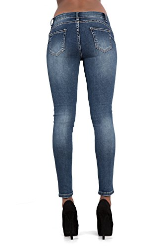 LustyChic - Vaqueros - para mujer Navy Blue With White Lace Insert
