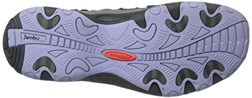Jambu Womens Lindsey Hypergrip Mary Jane Flat Nero / Lilla