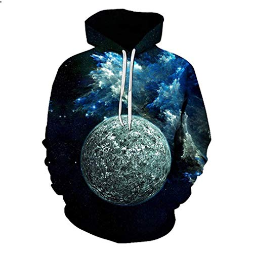 navely Men Women Casual Cool 3D Print Cosmic Planet Hooded Sweatshirts Sportwear Tracksuit Outdoor Sport Outwear Coat Tops 5X