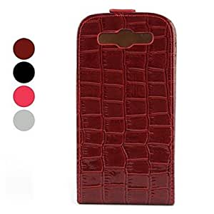 Gurnard Skin Pattern PU Leather Case with Stand for Samsung Galaxy S3 I9300 (Assorted Colors) , Red
