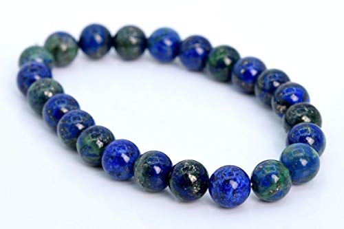 8MM Azurite Bracelet Grade AAA Genuine Natural Round Gemstone Beads 7