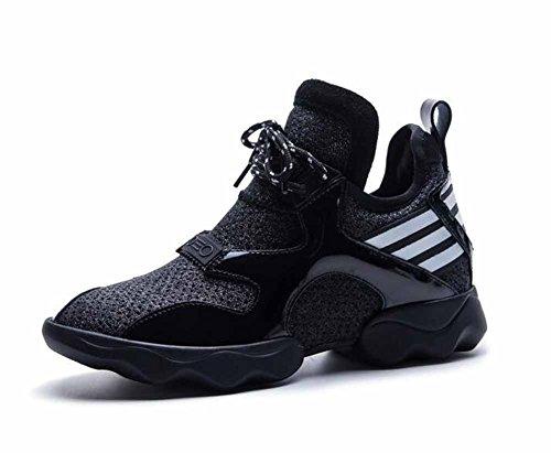 Dimensioni Grandi Traspiranti Sneakers Nuova Black Bovina 2018 Sport Outdoor Pelle Scarpe Donne Viaggio HqgwUxPZP